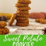sweet potato cookies PIN with text overlay.