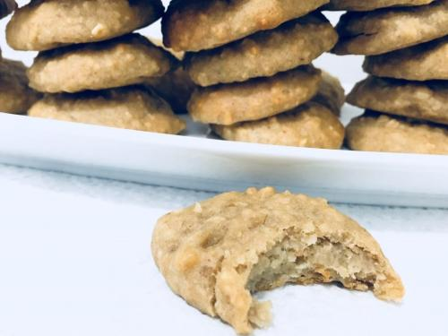 chickpea cookies with bite taken