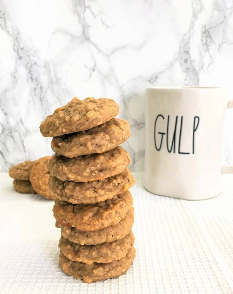Chickpea Cookies with coffee mug