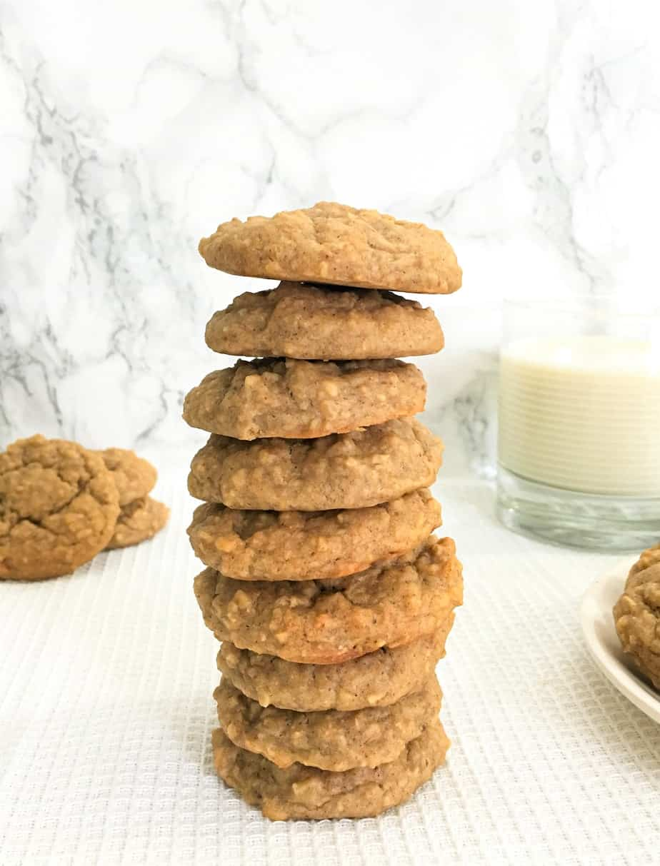 chickpea cookies with glass of milk