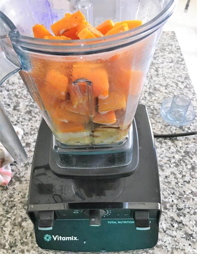 butternut squash in vitamix