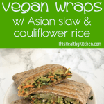 asian slaw vegan wraps pin