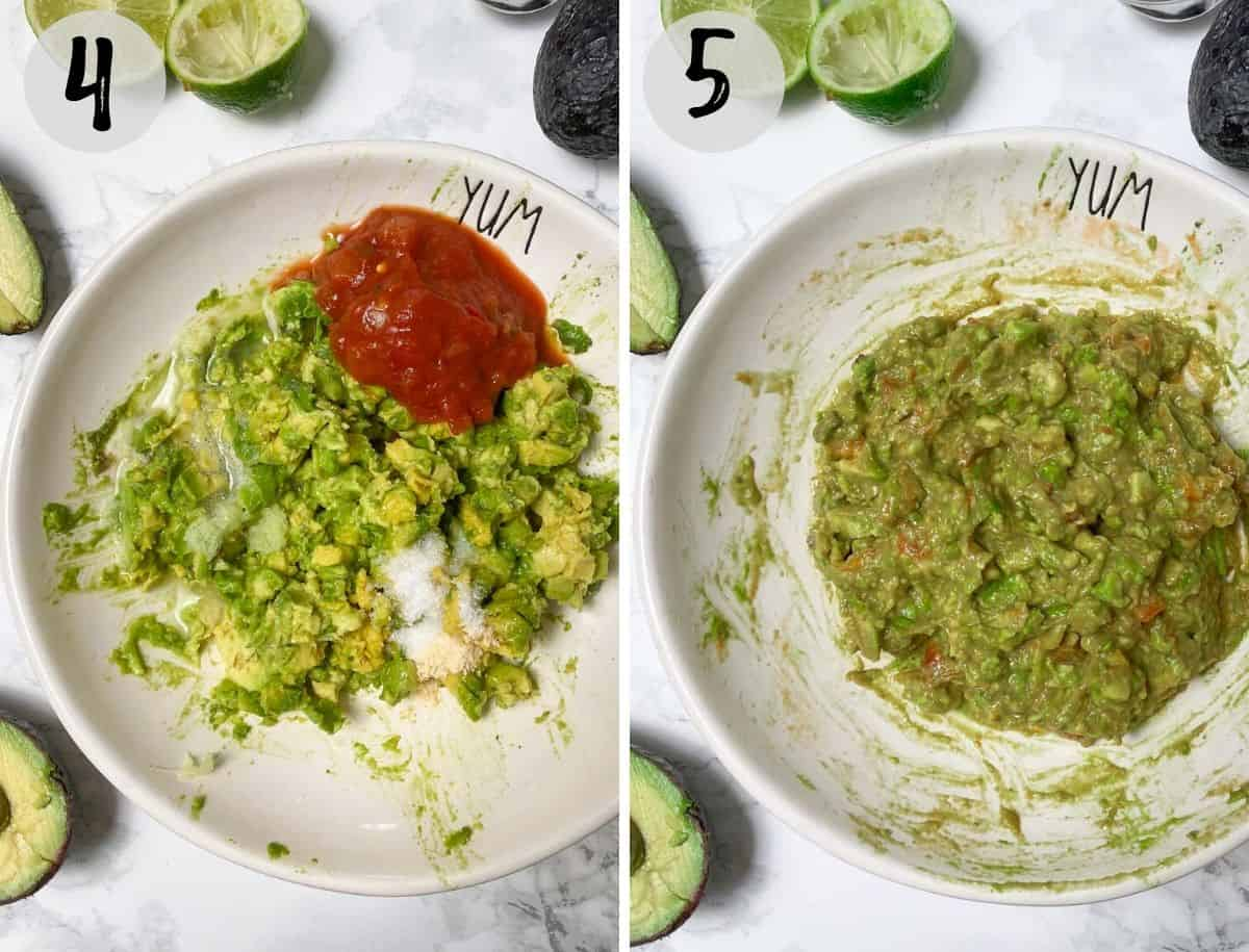 mashed avocado in bowl