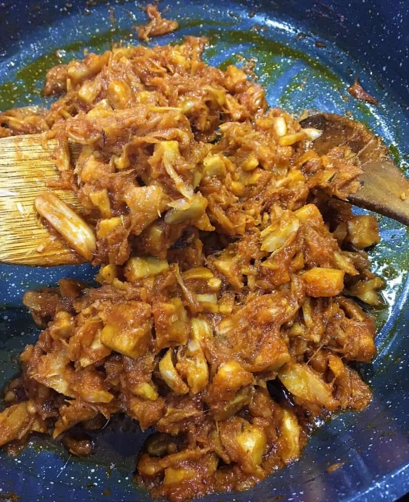 pulled jackfruit cooked
