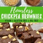 Healthy Chickpea Brownies Pin
