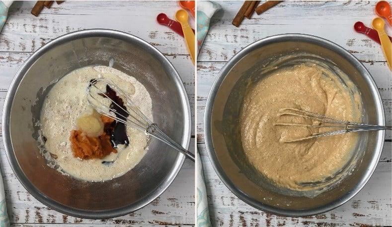 pumpkin spice pancake batter