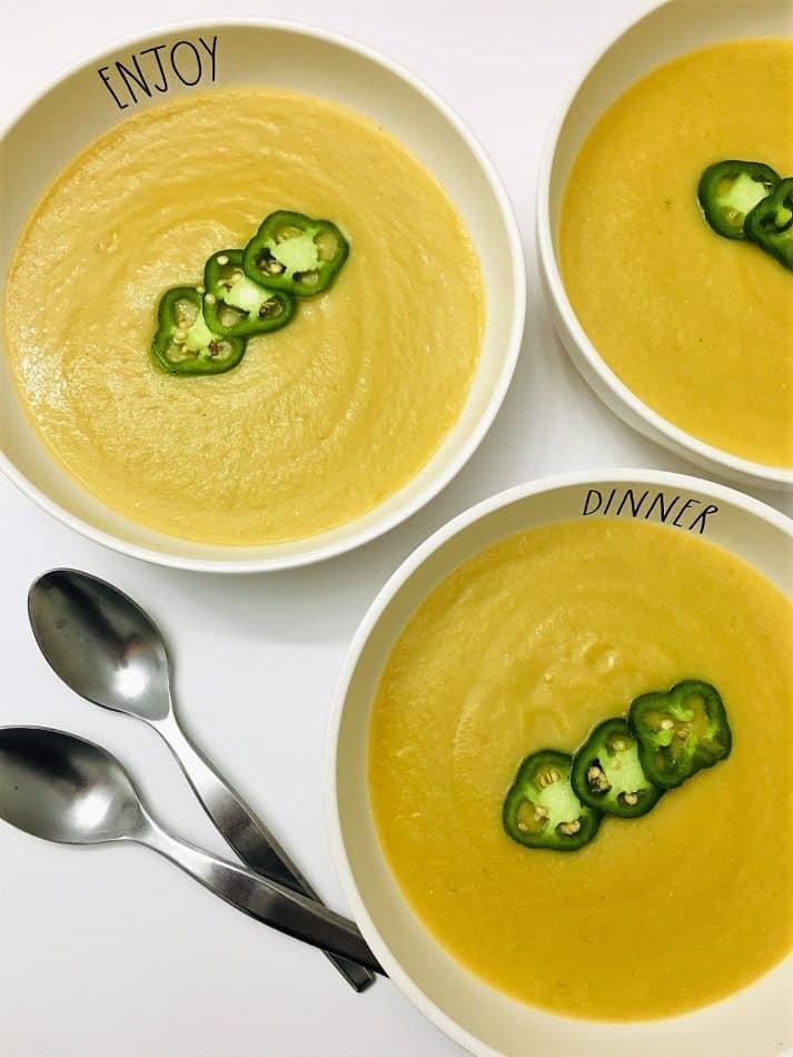 cauliflower jalapeno soup