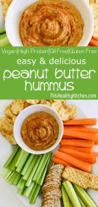 peanut butter hummus pin