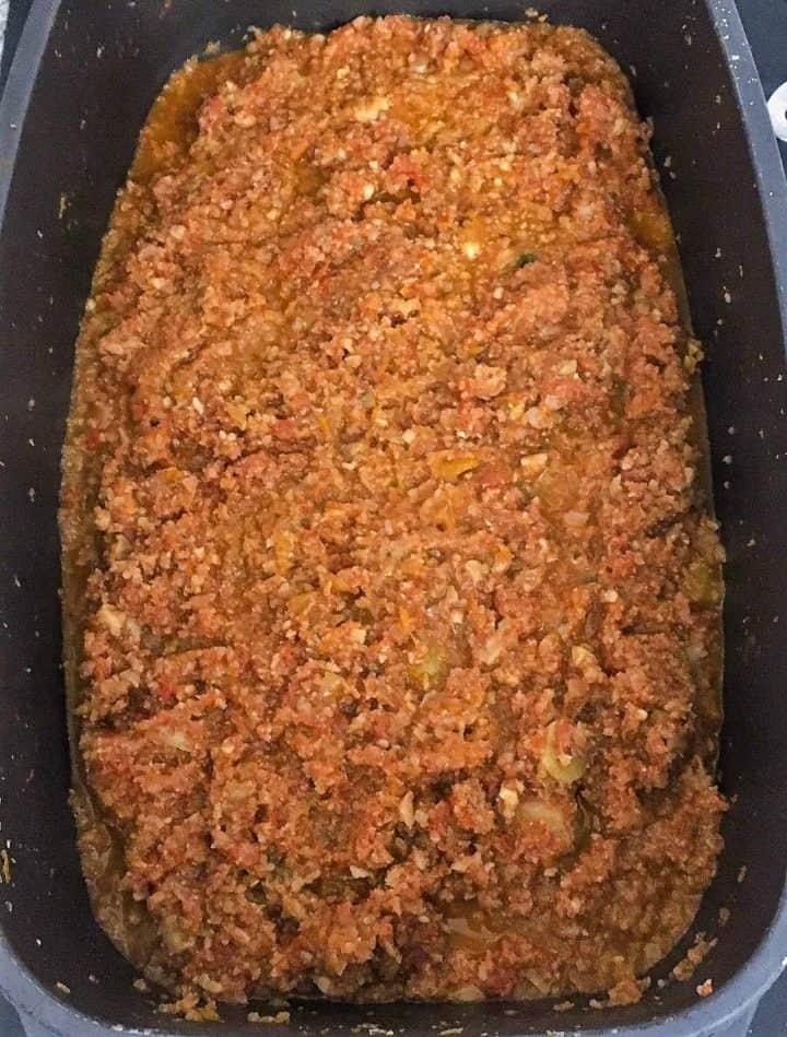 vegan bolognese sauce in large skillet
