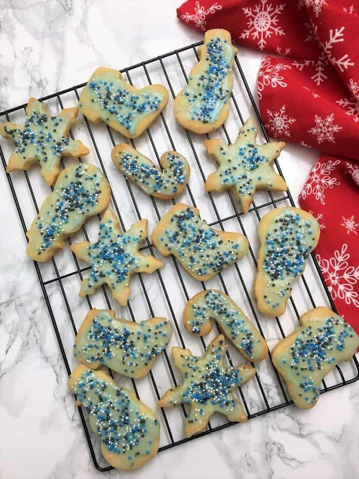 Shortbread Cookies on cooling rack