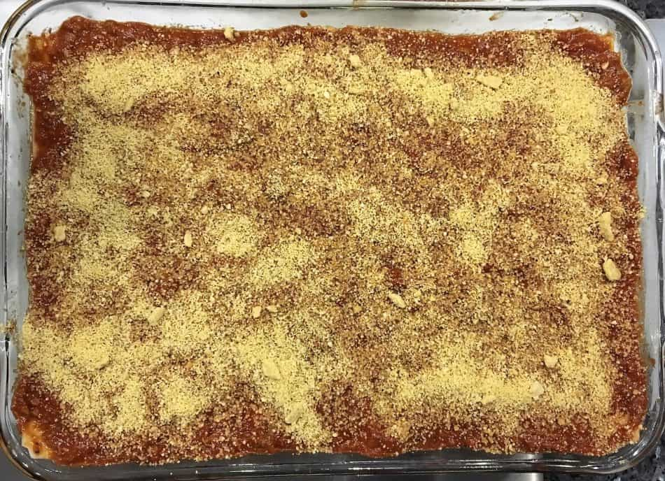 gluten free three cheese vegan lasagna ready to bake