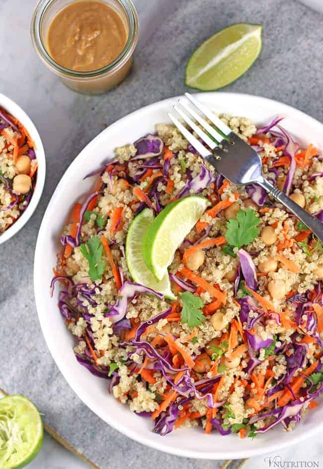 thai-quinoa-salad with lime