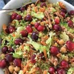 Cranberry Broccoli Salad in serving dish