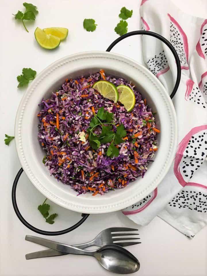 Coleslaw Salad with Thai Peanut Dressing