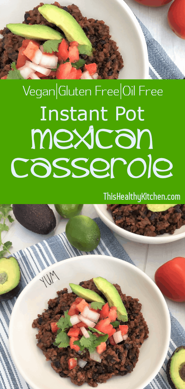 Instant Pot Mexican Casserole pin