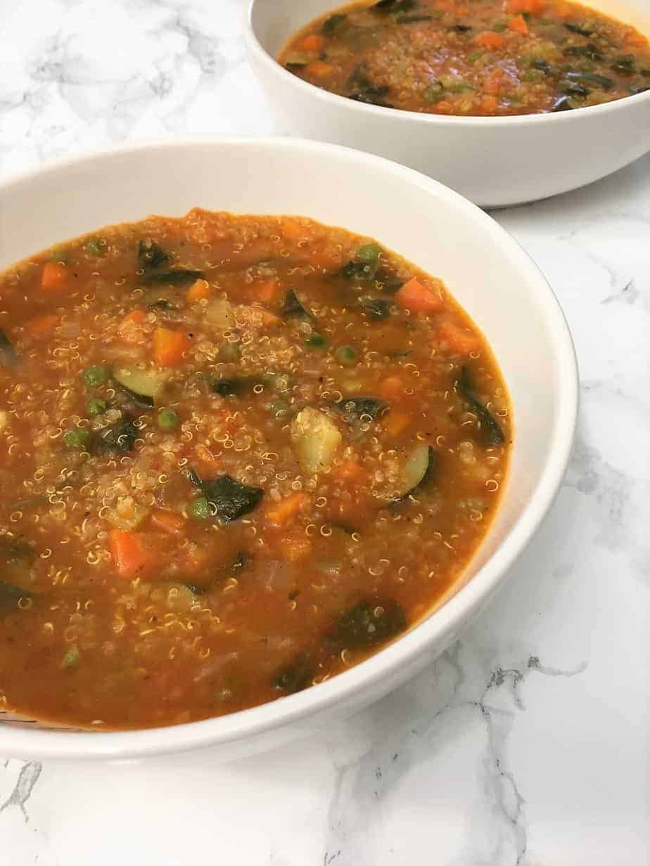 Instant Pot Vegetable Quinoa Soup in bowls