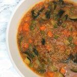 Instant Pot Vegetable Quinoa Soup close up of bowl