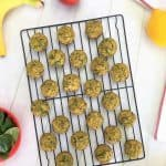 banana spinach muffin bites on cooling rack