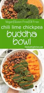 chickpea buddha bowl pin