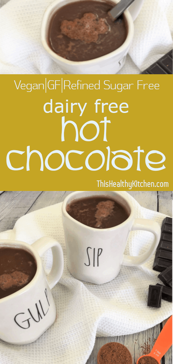 healthy hot chocolate pin