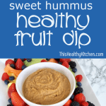 sweet hummus fruit dip pin