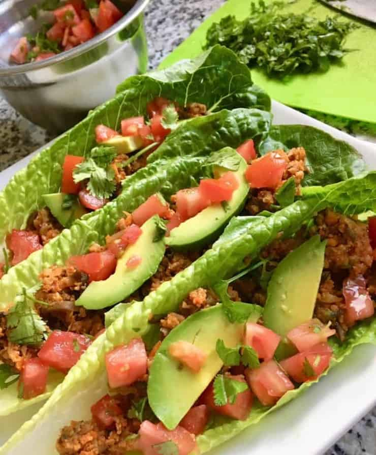 vegan taco lettuce wraps