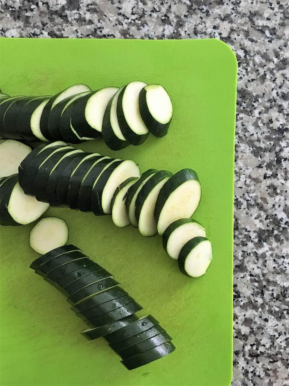Lemon herb grilled zucchini prep