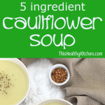 creamy cauliflower soup pin