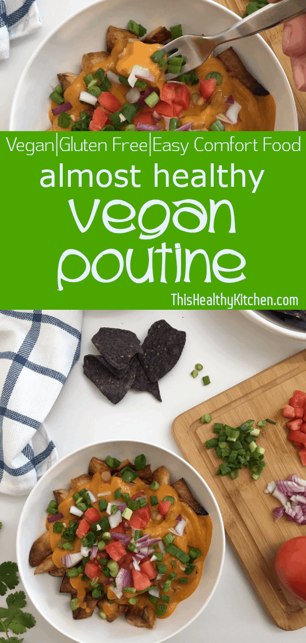 vegan poutine pin