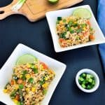 Cauliflower fried rice in bowls