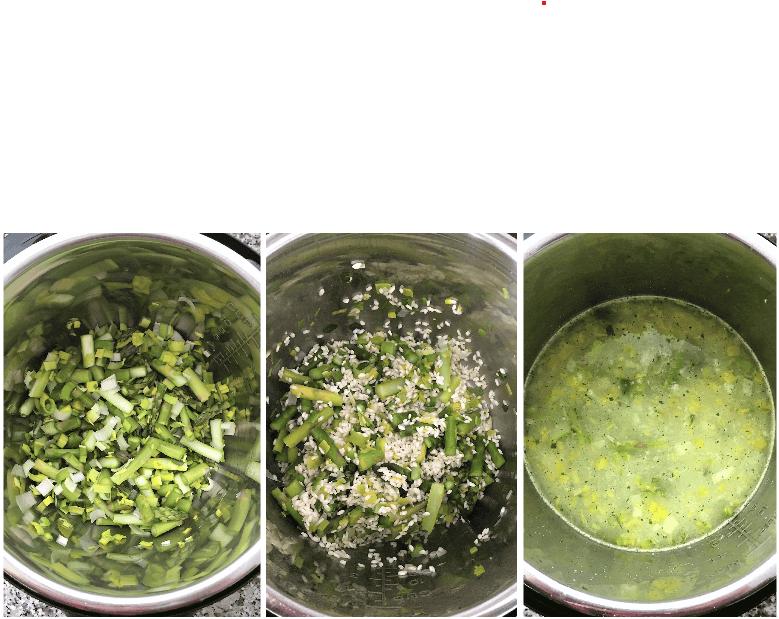 overhead shots of instant pot