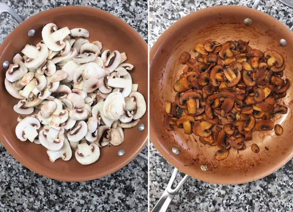 mushrooms in large skillet