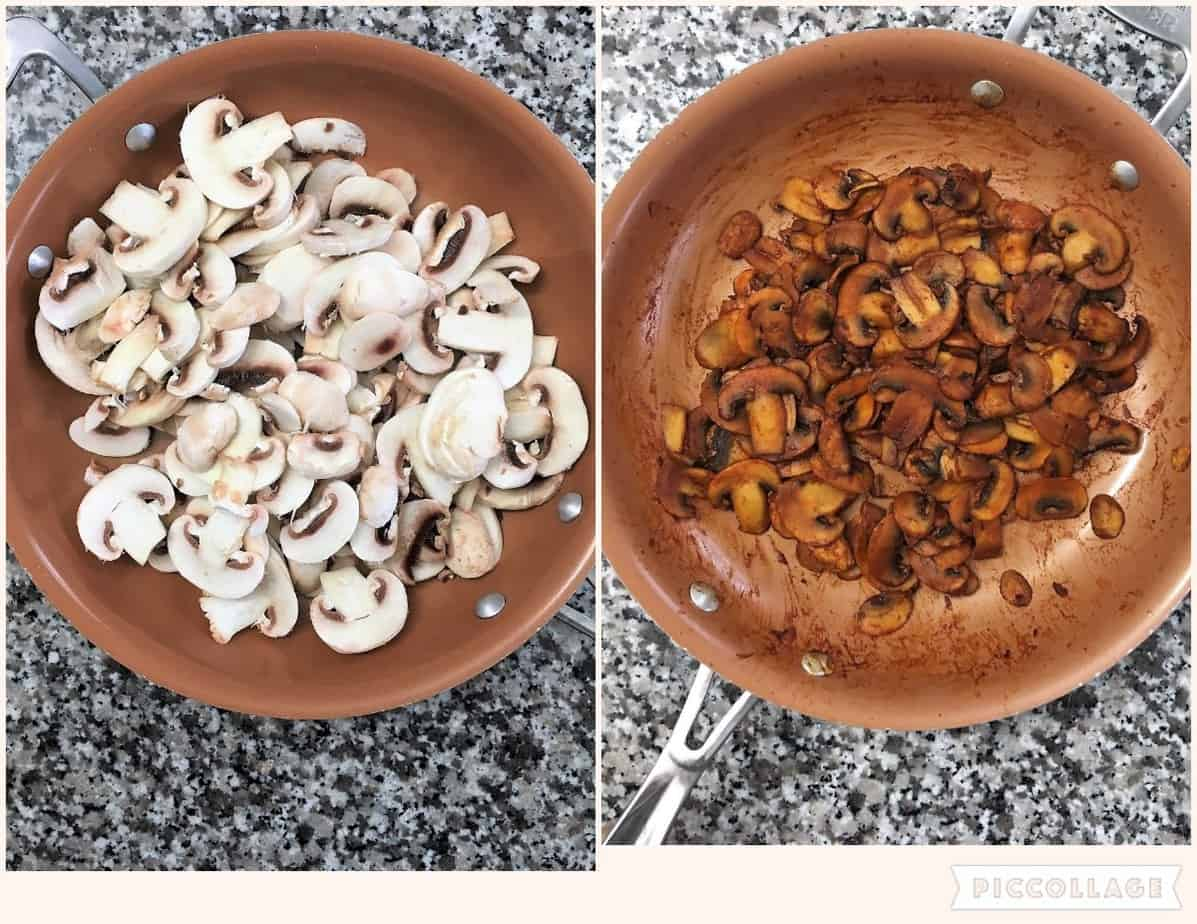 mushrooms in large skillet
