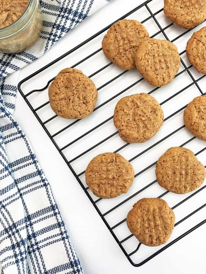 cookies cooling on wire wrack