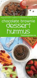 chocolate brownie dessert hummus pin