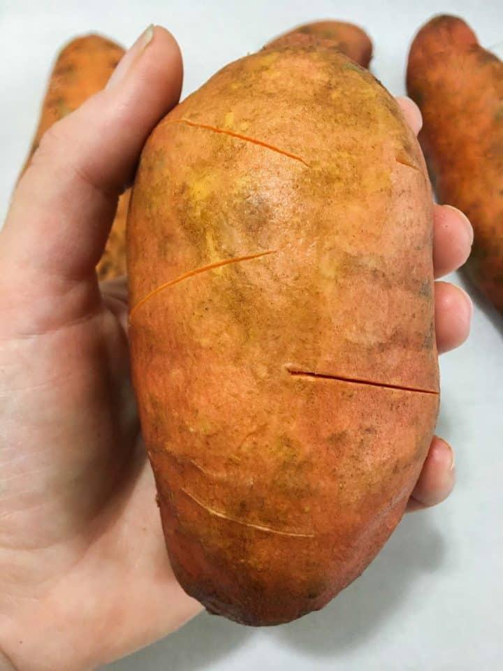 sweet potato in hand
