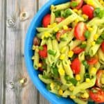 avocado vegan pasta salad