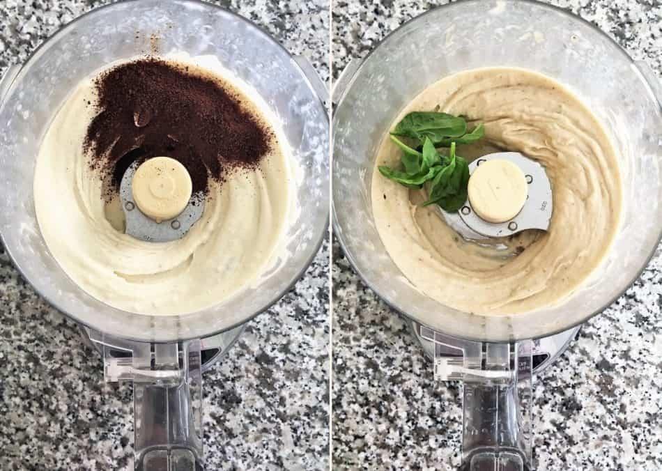 banana nice cream in food processor