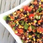 close up bean salad