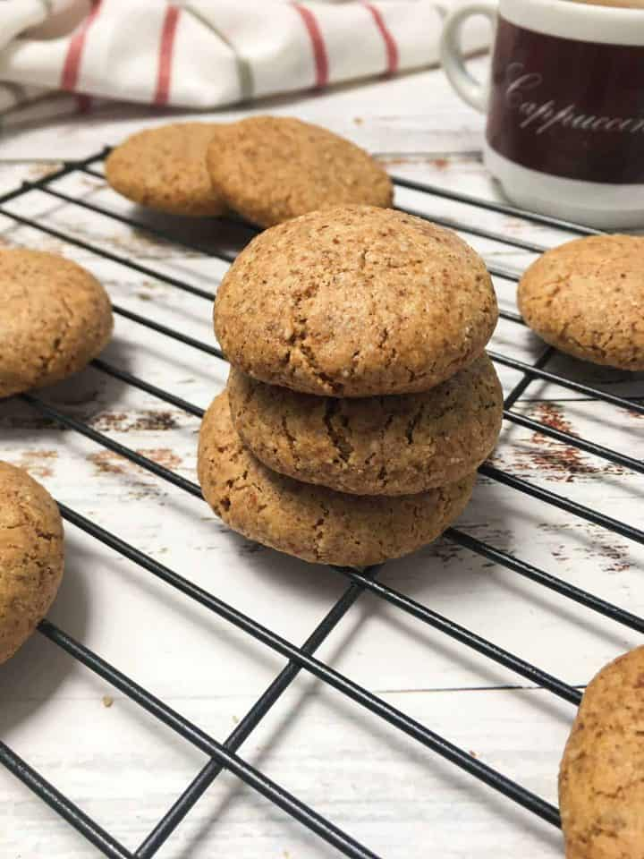 almond flour cookies on cooling rack
