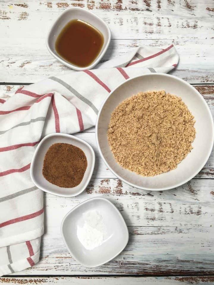 bowls of ingredients to make cookies
