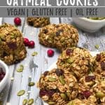 Cranberry Oatmeal Cookies PIN with text overlay.