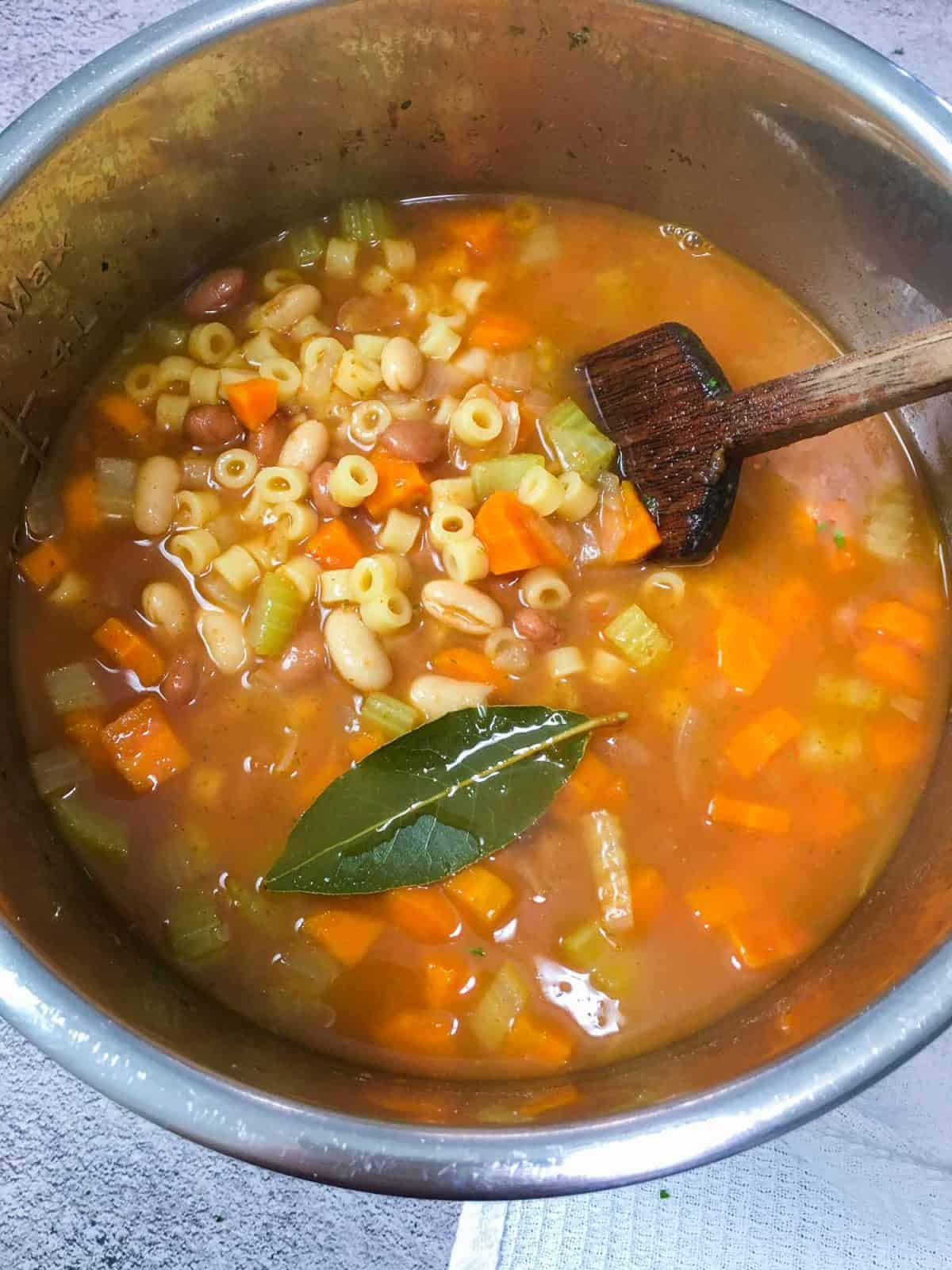 pasta e fagioli in the instant pot