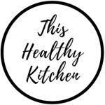 This Healthy Kitchen Logo in black circle