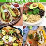 collage image of vegan mexican recipes PIN