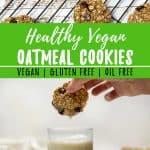 Healthy Vegan Oatmeal Cookies PIN
