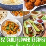 vegan cauliflower recipes pin