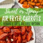 Air Fryer Carrots PIN image