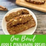 apple bread PIN image with text overlay