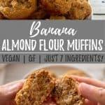 banana almond flour PIN with text overlay.